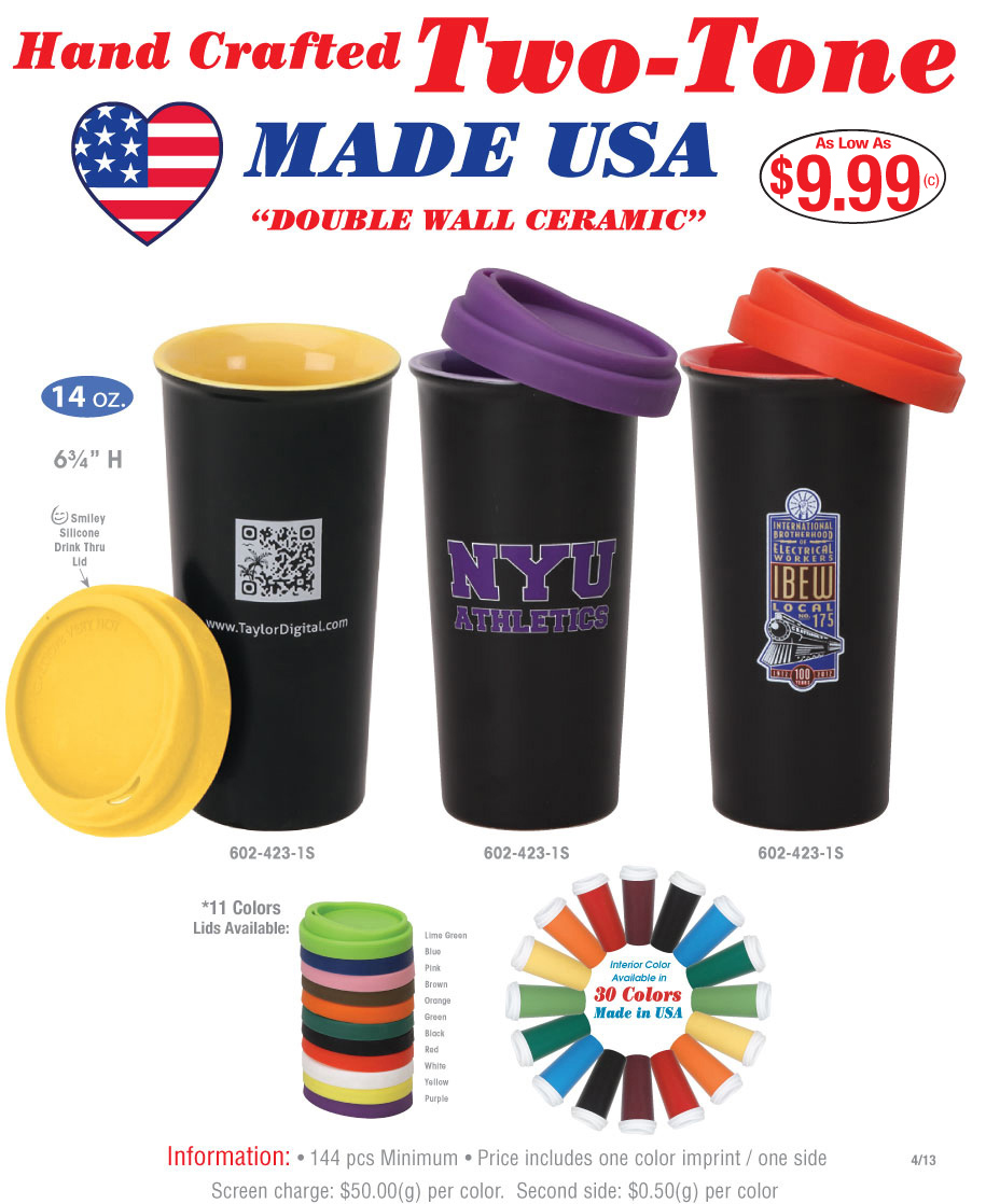 American made Ceramic Manufacturer  We offer promotional American